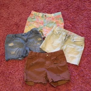 Girls jean short lot